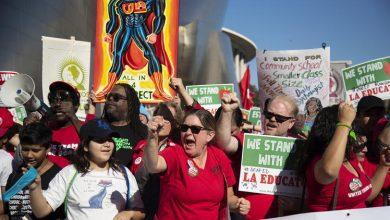 إضراب المعلمين فى لوس انجلوس
