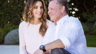 الملكة رانيا لزوجها الملك عبدالله: محظوظة لأنني رفيقة دربك
